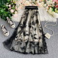 skirt Summer 2021 Average size Mid length dress commute High waist other Decor Type A 18-24 years old