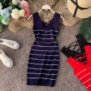 Wool knitwear Summer of 2019 Average size Red, blue, black Sleeveless singleton  Socket other 31% (inclusive) - 50% (inclusive) have cash less than that is registered in the accounts routine commute Self cultivation V-neck other stripe Socket Korean version 18-24 years old