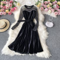 Dress Autumn 2020 Black, yellow sleeves Average size Mid length dress singleton  Long sleeves commute square neck High waist other Socket A-line skirt routine Others 18-24 years old Type A Korean version 30% and below other other