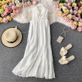 Dress Summer 2020 Average size longuette singleton  Sleeveless commute stand collar High waist Solid color Socket A-line skirt other Others 18-24 years old Type A Korean version 30% and below other other