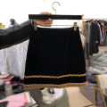 skirt Spring 2021 S,M,L,XL black Short skirt commute High waist A-line skirt other Type A 18-24 years old More than 95% other other Resin fixation Korean version