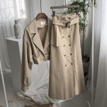 Fashion suit Autumn 2021 S,M,L,XL khaki 18-25 years old 96% and above cotton
