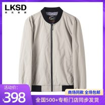 Jacket Laxdn / Lexton Fashion City light khaki  46/S 48/M 50/L 52/XL 54/XXL routine standard go to work autumn U1607900994 Polyester 100% Long sleeves Wear out Baseball collar Business Casual youth routine Zipper placket Rib hem Closing sleeve Solid color Autumn of 2019 Rib bottom pendulum Zipper bag