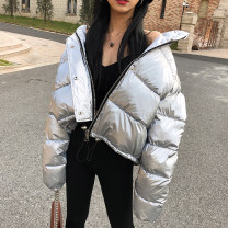 Cotton padded clothes Silver, green, black S,M,L Spring 2021 Other / other have cash less than that is registered in the accounts Long sleeves zipper street stand collar Bat sleeve Solid color other Europe and America