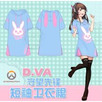 Cartoon T-shirt / Shoes / clothing DVA Dress watch pioneer T-shirt Over 14 years old goods in stock Xiaomei one-piece nightdress, DVA dress, DVA image sweater, cat teacher nightdress, cat backyard nightdress, hamster Cape S,M,L,XL,XXL No season Japan female quadratic element Leisure, lovely cotton