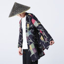 Windbreaker Plaid Others Youth fashion M,L,XL,2XL,3XL,4XL,5XL No buckle Medium length easy Other leisure autumn youth Chinese style Color block washing Cotton and hemp Color matching hemp
