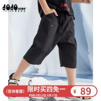 trousers middle-waisted Rubber belt Class B Summer 2020 male JOJO 2 years old, 3 years old, 4 years old, 5 years old, 6 years old, 7 years old, 8 years old, 9 years old, 10 years old, 12 years old, 13 years old, 14 years old Cropped Trousers summer Casual pants There are models in the real shot