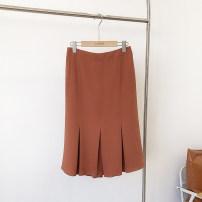 skirt Spring 2021 S,M,L,XL Black-1, orange-2, white-3 Caipei