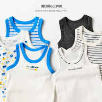 Vest sling Bx218 blue car vest three, black and white three I-shaped vest, gray anchor three I-shaped vest, rice white three vest, blue car three vest, frog three vest Sleeveless 80 by height, 90 by height, 95 by height, 100 by height, 110 by height, 120 by height, 130 by height, 140 by height summer