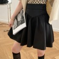 skirt Spring 2021 S,M,L black Short skirt commute High waist A-line skirt Solid color Type A 18-24 years old More than 95% Korean version