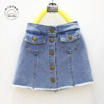 skirt It is expected to be blue around 5.21 Hang tag size 5: 85-95cm hang tag size 7: 95-105cm hang tag size 9: 105-110cm hang tag size 11: 110-120cm hang tag size 13: 120-130m hang tag size 15: 130-140cm hang tag size Other / other female Other 100% summer skirt Korean version Solid color