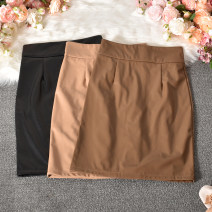 skirt Summer 2020 S,M,L,XL Black, apricot, khaki Short skirt commute High waist skirt Solid color Type H 18-24 years old 30% and below other polyester fiber zipper Korean version 401g / m ^ 2 (inclusive) - 500g / m ^ 2 (inclusive)