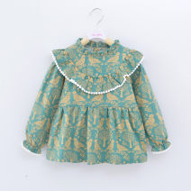 Reverse dressing yes Size 90 suggests 1-2 years old, size 100 suggests 2-3 years old, Size 110 suggests 3-4 years old, Size 120 suggests 4-5 years old Broken flowers Cotton 100% Zyuan / zhiyuxuan cotton Class A Autumn of 2018 Korean version Chinese Mainland