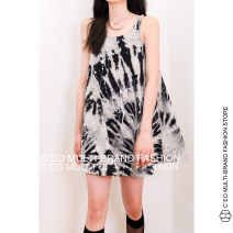 Dress Summer 2021 Picture color 8/S,10/M Sleeveless Sweet Crew neck routine ANGEL CHEN More than 95% cotton