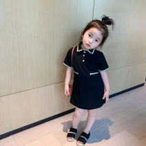 Dress Black pre sale female Other / other 90cm,100cm,110cm,120cm,130cm,140cm Cotton 90% other 10% spring and autumn leisure time Solid color cotton other 8 years old , 12 months , 3 years old , 6 years old , 18 months , 9 months , 2 years old , 5 years old , 4 years old Chinese Mainland