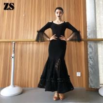 Modern dance bottom female ZS skirt S, M M12