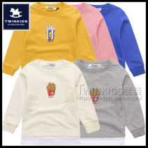 T-shirt Yellow, gray, blue, pink, off white Twinkids 100cm,110cm,120cm,130cm,140cm neutral spring and autumn Long sleeves Crew neck Korean version No model nothing cotton Cartoon animation Cotton 100% T7S-M-9-T10 Class A Sweat absorption
