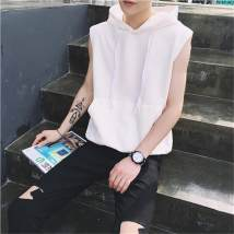 Vest / vest Youth fashion Others White gray light blue M L XL 2XL Other leisure easy Sweat vest routine summer teenagers Youthful vigor Cloth hem No iron treatment