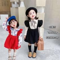Dress Black, red, white shirt, beige shirt female Other / other 80cm,90cm,100cm,110cm,120cm,130cm Other 100% spring and autumn Korean version Petticoat Solid color Pure cotton (100% cotton content) Strapless skirt Class B