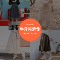 skirt Autumn of 2019 S. M, l, average size Short skirt Sweet High waist A-line skirt Solid color Type A 18-24 years old QCK003 51% (inclusive) - 70% (inclusive) Other / other polyester fiber Tassels, folds, pockets, tridimensional decoration, stitching, lace solar system