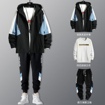 Jacket J-VAN Fashion City M L XL 2XL 3XL 4XL Plush and thicken easy Other leisure spring wyjkmyy8038 Polyester 100% Long sleeves Wear out Hood like a breath of fresh air teenagers routine Zipper placket Round hem No iron treatment The appearance is loose and the inside is closed Geometric pattern