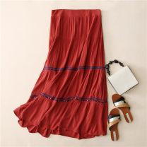 skirt Summer 2020 Picture color longuette Natural waist A-line skirt