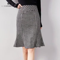 skirt Autumn 2020 M L XL XXL Black and white check longuette commute High waist skirt lattice 35-39 years old CSHZ0108 71% (inclusive) - 80% (inclusive) Can Sheng polyester fiber Polyester 73.7% regenerated cellulose 10.2% polyacrylonitrile 8% others 8.1% Pure e-commerce (online only)