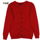 T-shirt / sweater Most / Moss Youth fashion gules M,L,XL Cardigan V-neck Long sleeves S63119014 winter