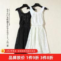 Dress Summer 2020 White, black Mid length dress Sleeveless straps Other / other