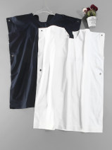 Dress Summer 2021 White, Navy XS / one hundred and fifty , S / one hundred and fifty-five , M / one hundred and sixty , L / one hundred and sixty-five , XL / one hundred and seventy , S / 155 stains , M / 160 stains , L / 165 stains commute 25-29 years old Other / other Korean version L6782