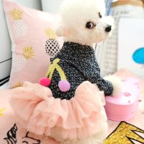 Pet clothing / raincoat Dog Dress SS chest 30 long 20 suitable for 2 kg dogs, SG chest 35 long 24 suitable for 4 kg dogs, SM chest 40 long 30 suitable for 7 kg dogs, mm chest 45 long 34 suitable for 10 kg dogs, ML chest 50 long 40 suitable for 14 kg dogs other princess As shown in the figure Netting