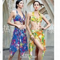 Bikini Bugler 171376-2 yellow green color XL,XXL Skirt bikini Steel strap breast pad Nylon, spandex, others 171376-2