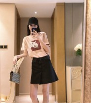 skirt Summer 2020 26,27,28,29 Dark black blue Short skirt A-line skirt Solid color