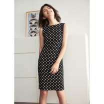 Dress Autumn of 2018 Black and white Xs, s, m, l, XS (spot), s (spot), m (spot), l (spot) singleton  Sleeveless commute Crew neck Dot 25-29 years old Type H topbuyer Simplicity 51% (inclusive) - 70% (inclusive) other Cellulose acetate