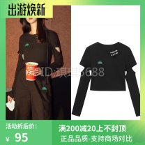 T-shirt Black, light green, pink S,M,L,XL Spring 2021 Long sleeves Crew neck easy Regular routine Sweet other 31% (inclusive) - 50% (inclusive) 25-29 years old Solid color A6DCB210689