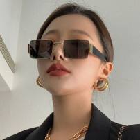 Sun glasses Round face, long face, square face, oval face currency square Glass Less than 100 yuan Other / other Anti UVA