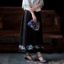 skirt Summer 2020 S code (spot), M code (spot), l code (spot) black Middle-skirt Versatile Natural waist other More than 95% other A city full of wind silk