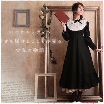 Dress Spring 2020 Black and white, picture color L size long skirt 120cm, s size long skirt 120cm, XL SIZE long skirt 120cm, M size long skirt 120cm, s size medium skirt 94cm, M size medium skirt 94cm, L size medium skirt 94cm longuette singleton  Nine point sleeve Sweet stand collar middle-waisted