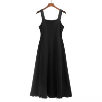 Women's large Summer 2021 Black (around 12th), khaki (around 12th), white apricot (around 12th) XL (recommended 100-145 kg), XXL (recommended 145-160 kg), XXXL (recommended 160-185 kg) Two piece set commute Sleeveless Solid color Korean version other ALHYP658K2987 25-29 years old zipper Medium length