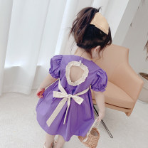 Dress Red, purple female Other / other 80cm,90cm,100cm,110cm,120cm,130cm Other 100% summer Korean version Short sleeve Solid color other A-line skirt other 7 years old, 12 months old, 3 years old, 18 months old, 9 months old, 6 months old, 2 years old, 5 years old, 4 years old, 6 years old Hangzhou