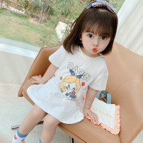 Dress White, pink female Other / other 80cm,90cm,100cm,110cm,120cm,130cm Other 100% summer Korean version Short sleeve Cartoon animation other A-line skirt 12 months, 6 months, 9 months, 18 months, 2 years old, 3 years old, 4 years old, 5 years old, 6 years old, 7 years old Chinese Mainland Hangzhou
