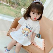 Dress White, pink female Other / other 80cm,90cm,100cm,110cm,120cm,130cm Other 100% summer Korean version Short sleeve Cartoon animation other A-line skirt 12 months, 6 months, 9 months, 18 months, 2 years old, 3 years old, 4 years old, 5 years old, 6 years old, 7 years old Chinese Mainland Hangzhou