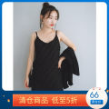 Vest sling Spring 2021 black XS,S,M singleton  routine Self cultivation Original design camisole Solid color 25-29 years old 96% and above