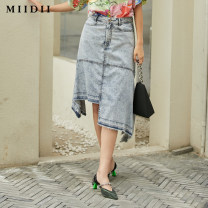 skirt Spring 2021 S M L XL XXL Pink Blue Navy olive green Middle-skirt commute Natural waist Denim skirt Type A 212MB0704 31% (inclusive) - 50% (inclusive) The answer cotton Retro Lyocell fiber (Lyocell) 60.1% cotton 39.9% Same model in shopping mall (sold online and offline)