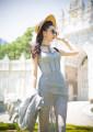 Dress Summer of 2019 grey S spot, m spot, l spot Mid length dress commute V-neck 25-29 years old Magic Q by lou Retro