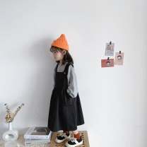 Dress female Other / other 90cm,100cm,110cm,120cm,130cm,140cm Other 100% spring and autumn Korean version Skirt / vest Solid color cotton A-line skirt 2 years old, 3 years old, 4 years old, 5 years old, 6 years old, 7 years old