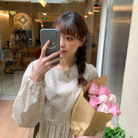 Dress Spring 2021 Black spot, apricot spot Average size Mid length dress singleton  Long sleeves commute High waist other other Others 18-24 years old Type A Korean version E4824 30% and below other other