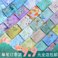 Fabric / fabric / handmade DIY fabric blending Loose shear piece Plants and flowers printing and dyeing clothing Chinese style A040102653 Chinese Mainland