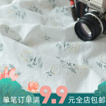 Fabric / fabric / handmade DIY fabric cotton White half meter, green half meter, pink half meter, blue half meter Loose shear piece Plants and flowers printing and dyeing Other hand-made DIY fabrics Japan and South Korea 100% A0301012173 Chinese Mainland
