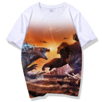 T-shirt Youth fashion routine Others Short sleeve Crew neck standard daily summer Polyester 100% teenagers routine tide Bead mesh Cartoon animation printing polyester fiber Animal design Domestic non famous brands More than 95%